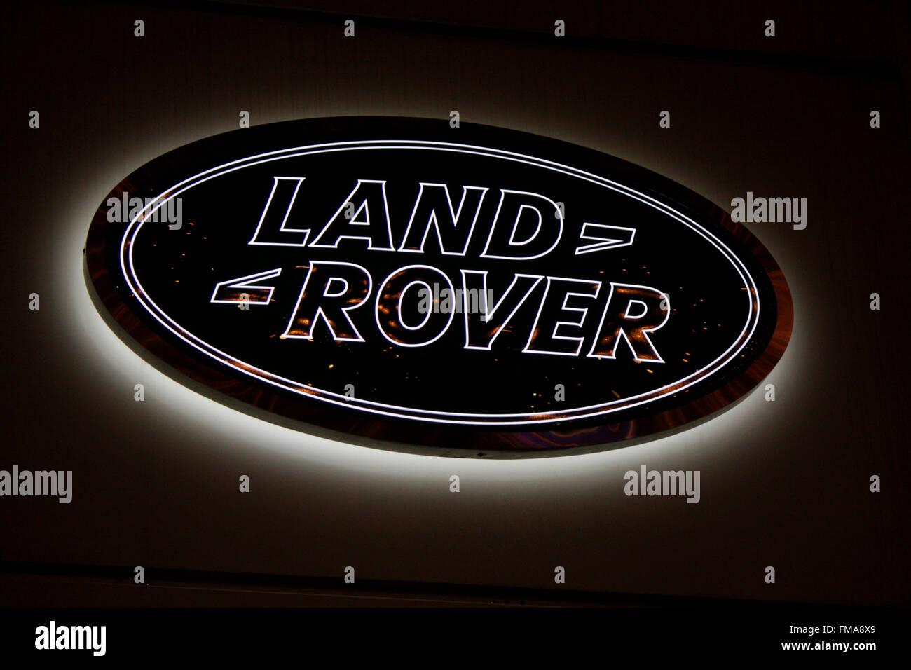 Markenname: 'Land Rover', Dezember 2013, Berlin. - Stock Image