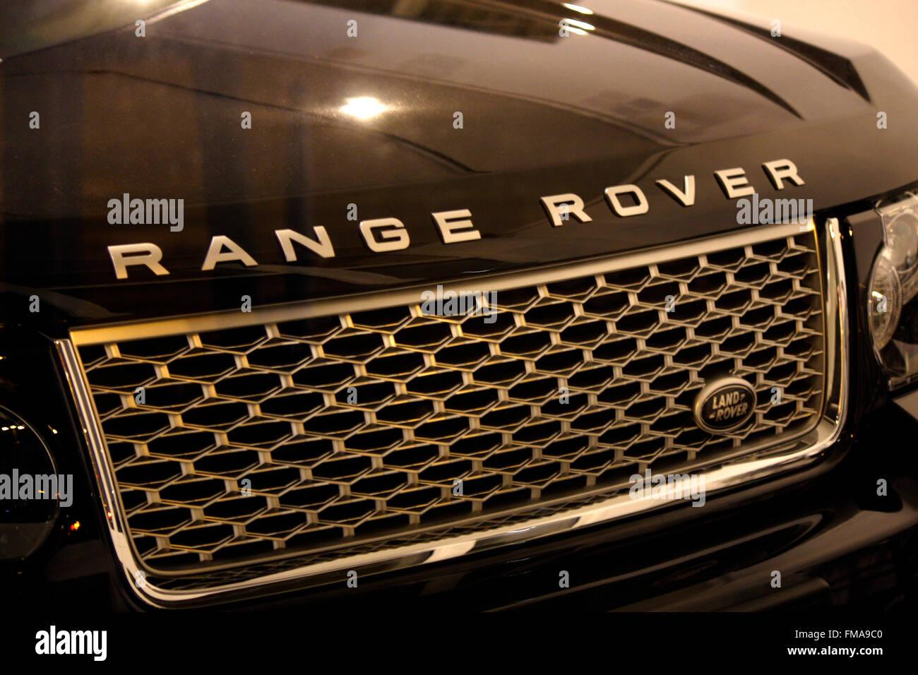 Markenname: 'Range Rover', Dezember 2013, Berlin. - Stock Image