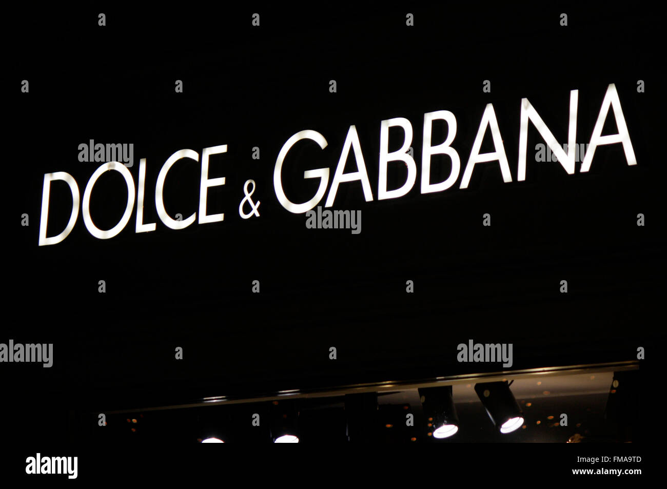 "Markenname: ""Dolce Gabbana"", Dezember 2013, Berlin. Stock Photo"
