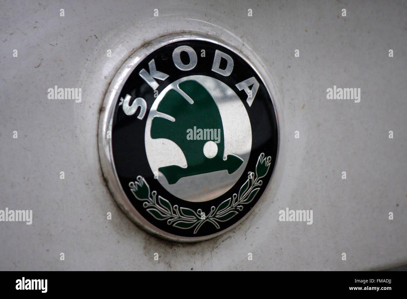 Markenname: 'Skoda', Dezember 2013, Berlin. - Stock Image
