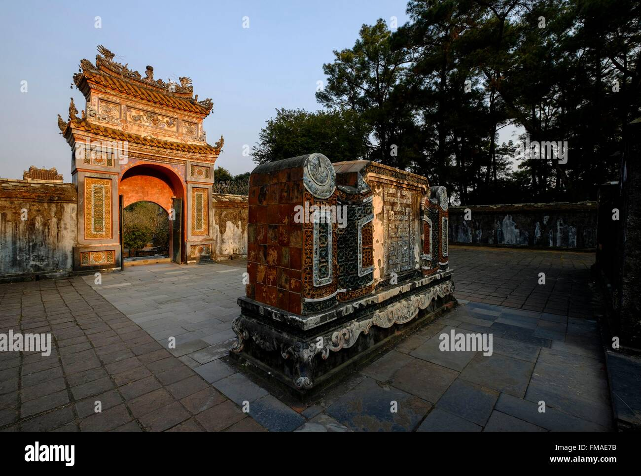 Vietnam, Thua Thien Hue province, Hue, Group of Hue monuments listed as World Heritage site by UNESCO, Tomb of emperor - Stock Image