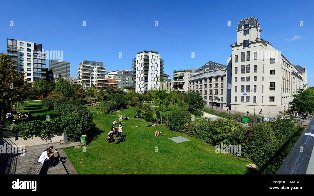 France, Paris, the former industrial mills in the 13th district built between 1917 and 1921 by Georges Wybo hosts - Stock Image
