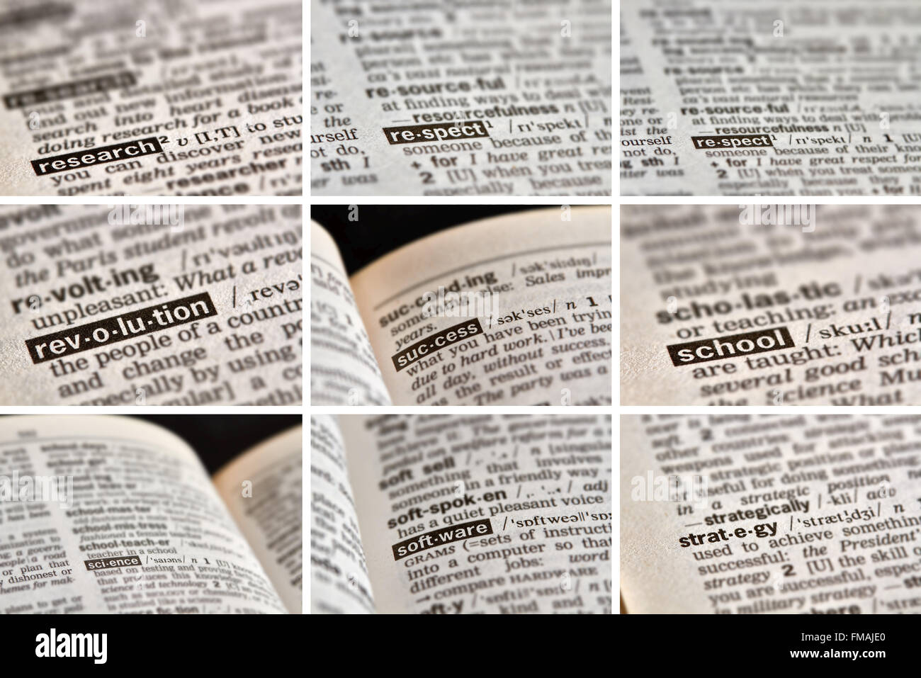 Education Learning Words in Dictionary. - Stock Image