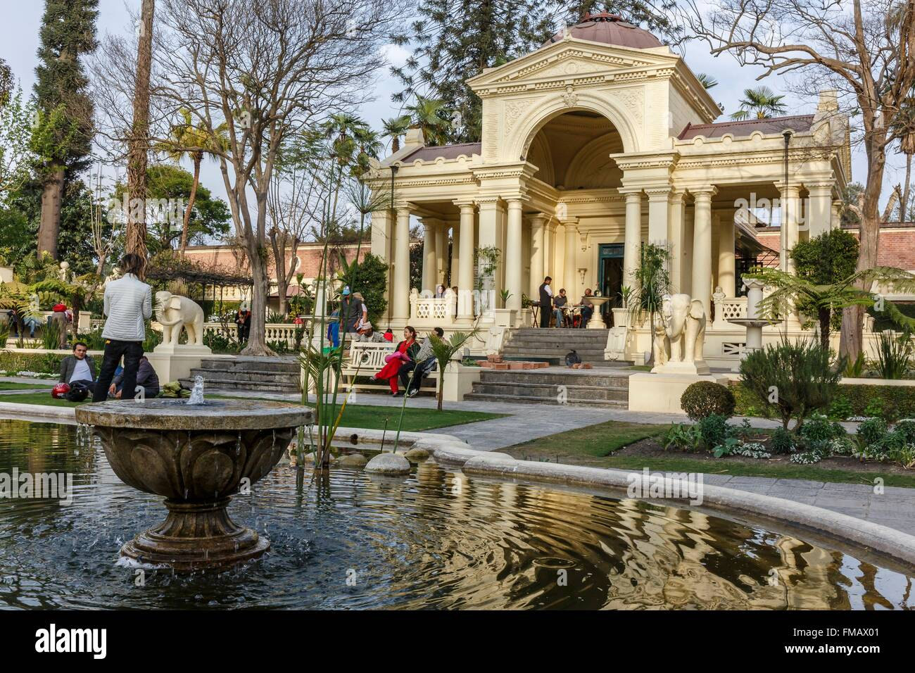 Nepal, Bagmati zone, Kathmandu, Thamel, Dreams garden and Kaiser cafe - Stock Image