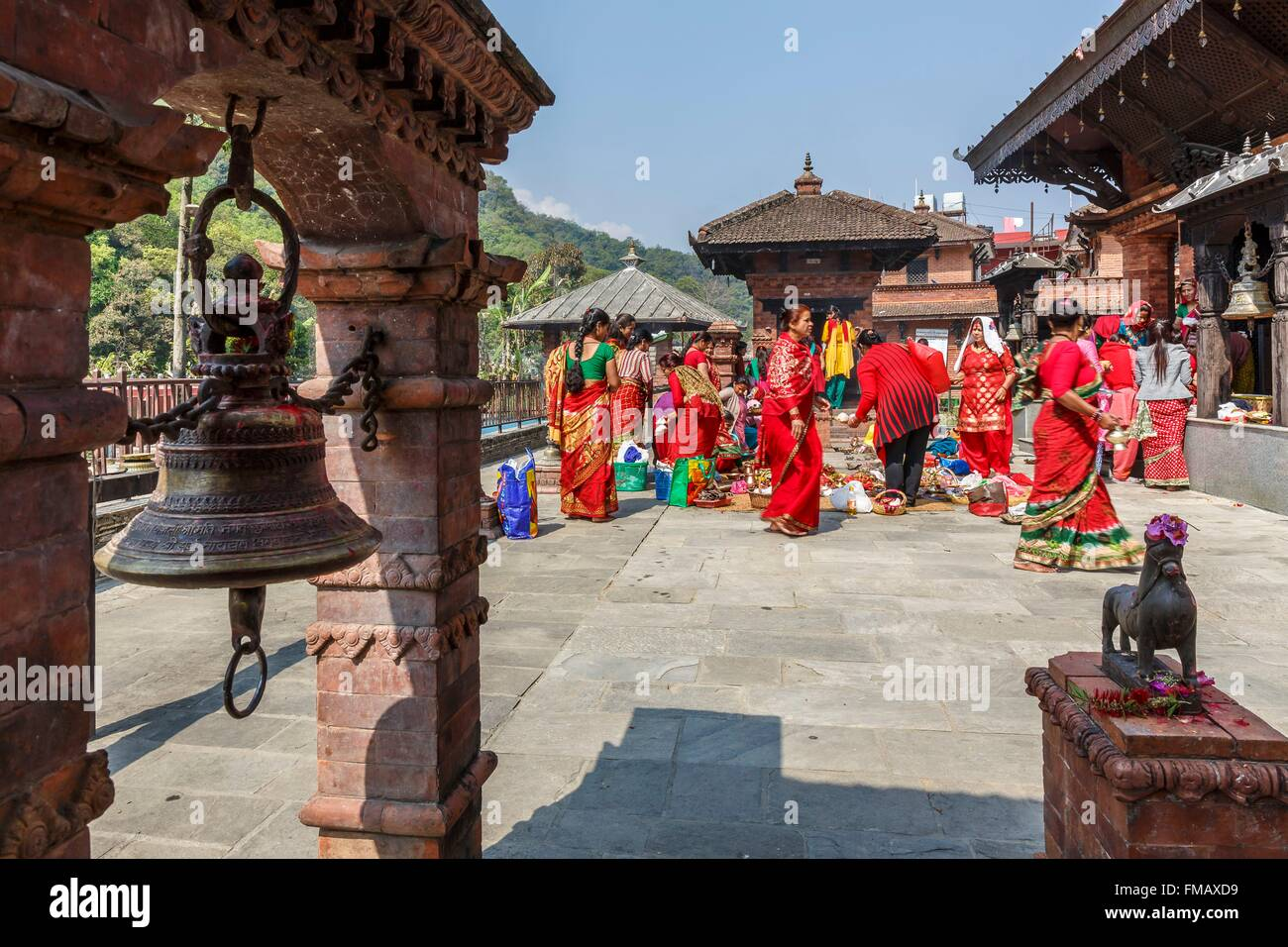 Nepal, Gandaki zone, Pokhara, ceremony at Kedareshor Mahadev temple - Stock Image
