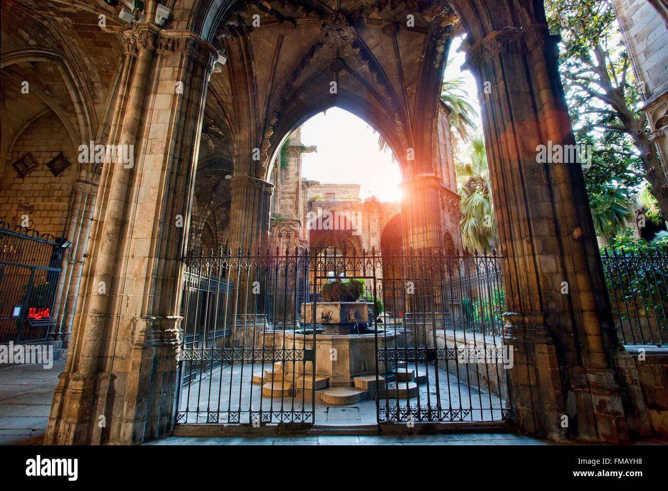 Spain, Catalonia, Barcelona, Barcelona's Cathedral - Stock Image