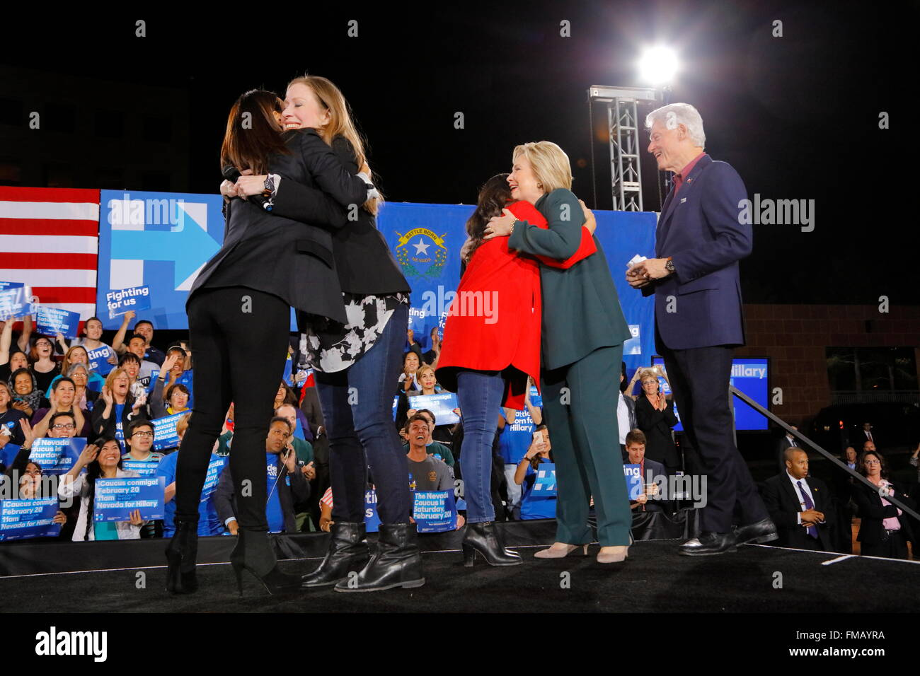 Democratic Presidential Candidate Hillary Clinton Campaigns In Las Vegas, Nevada - Stock Image