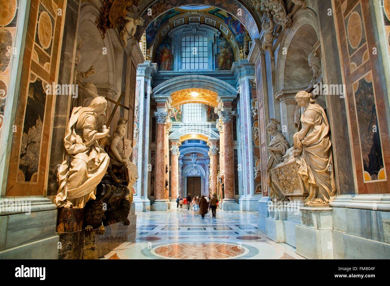 Italy, Lazio, Rome, historical center listed as World Heritage by UNESCO, Vatican City listed as World Heritage - Stock Image