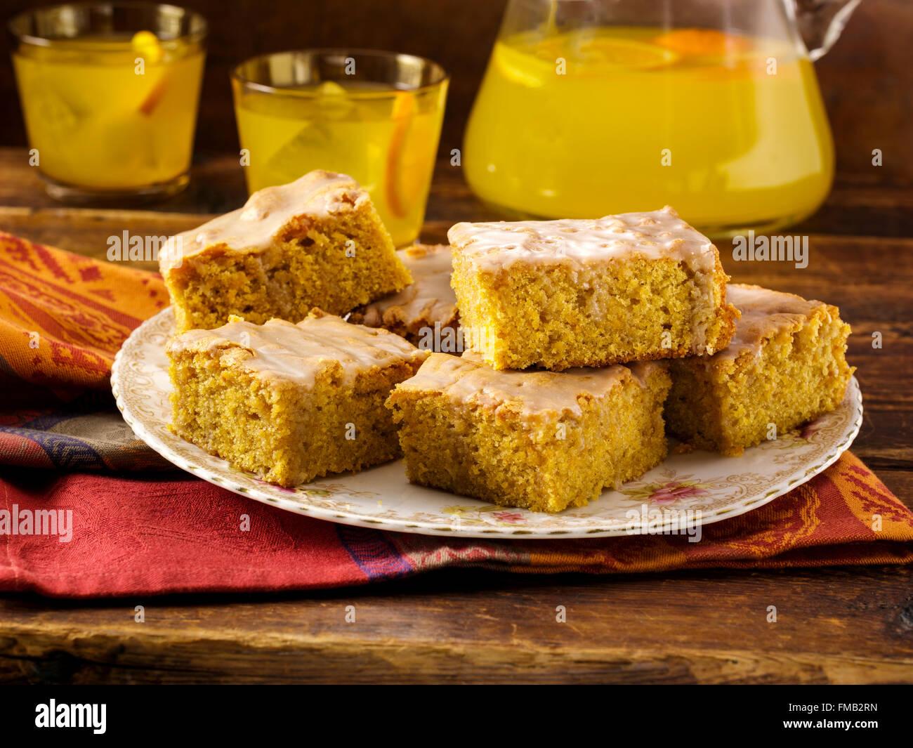 Sweet potato blondies - Stock Image