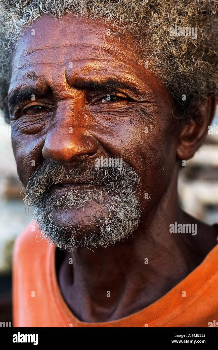 3cb469740 Cuba, Guantanamo, Baracoa, Bearded old man with dark skin and Stock ...