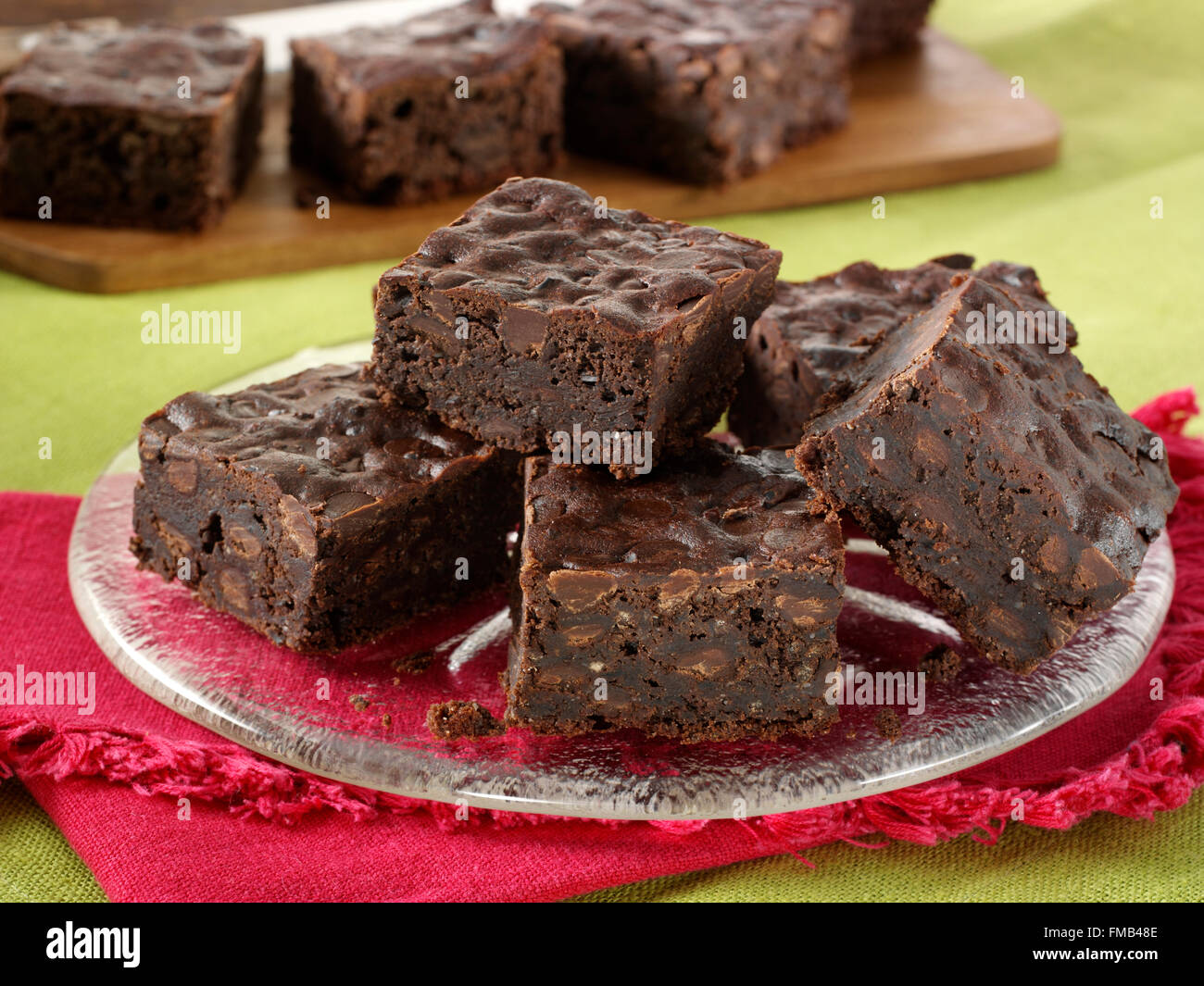Honey black bean brownies - Stock Image