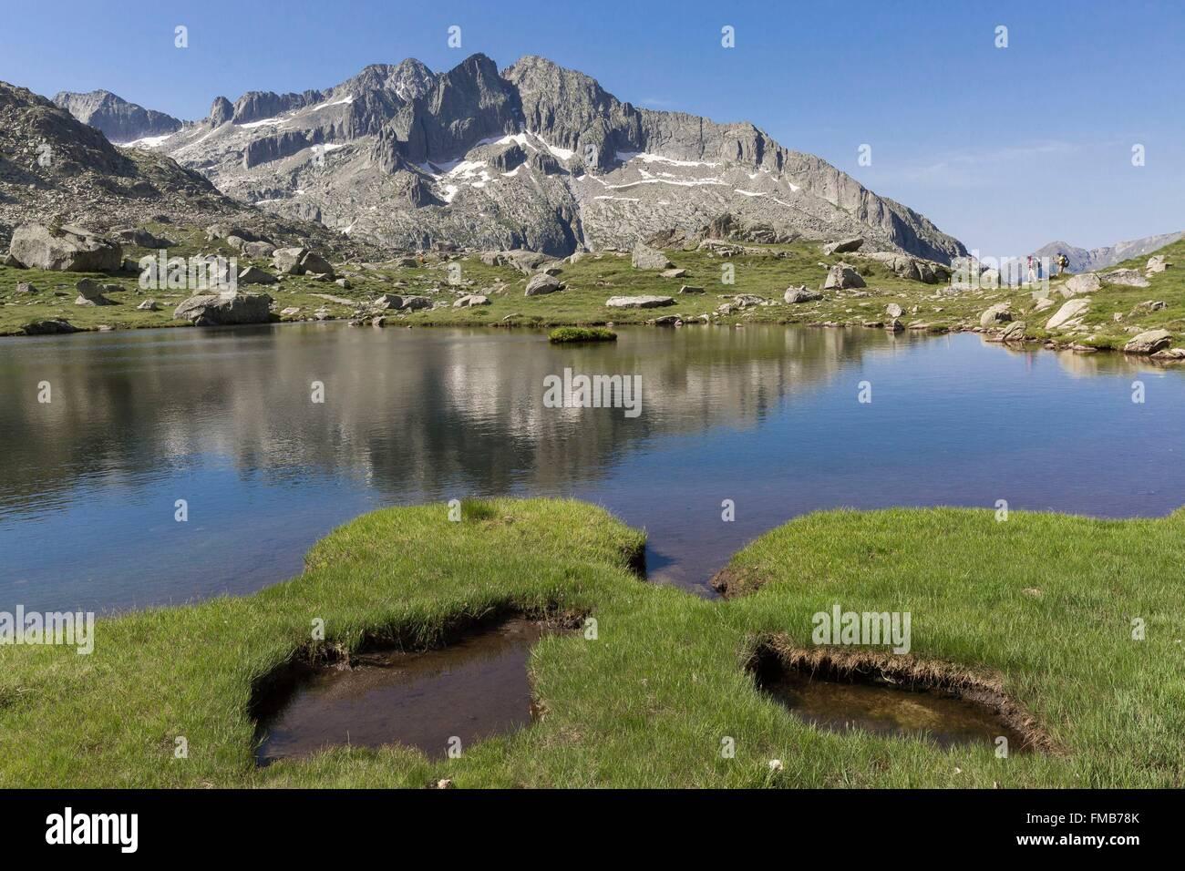 Spain, Catalonia, Val d'Aran, Arties, Aigüestortes i Estany de Sant Maurici National Park, between Monges - Stock Image