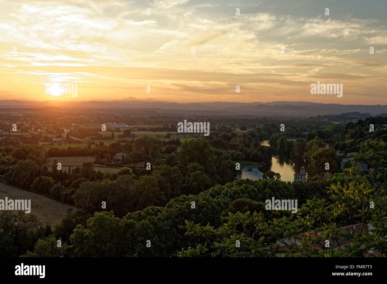 France, Herault, Beziers, View of Orb River - Stock Image