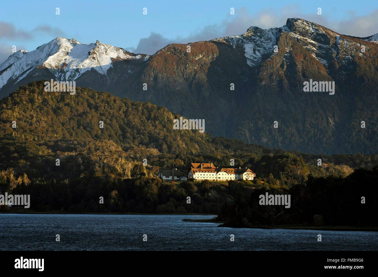 Argentina, Rio Negro province, San Carlos de Bariloche, general view with the Llao Llao Hotel, usually known as - Stock Image