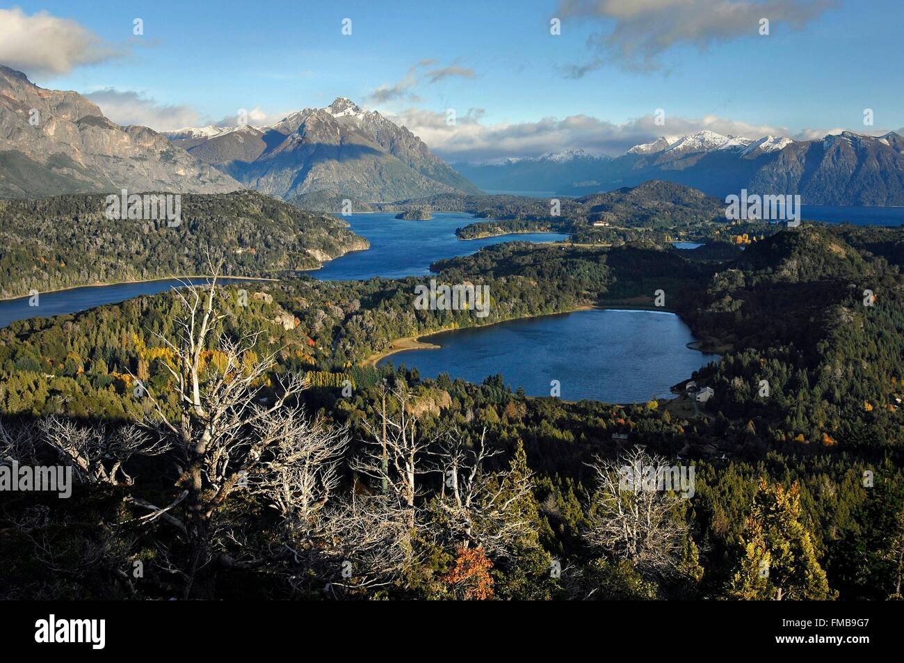 Argentina, Rio Negro province, San Carlos de Bariloche, general view, usually known as Bariloche, it is a city situated - Stock Image