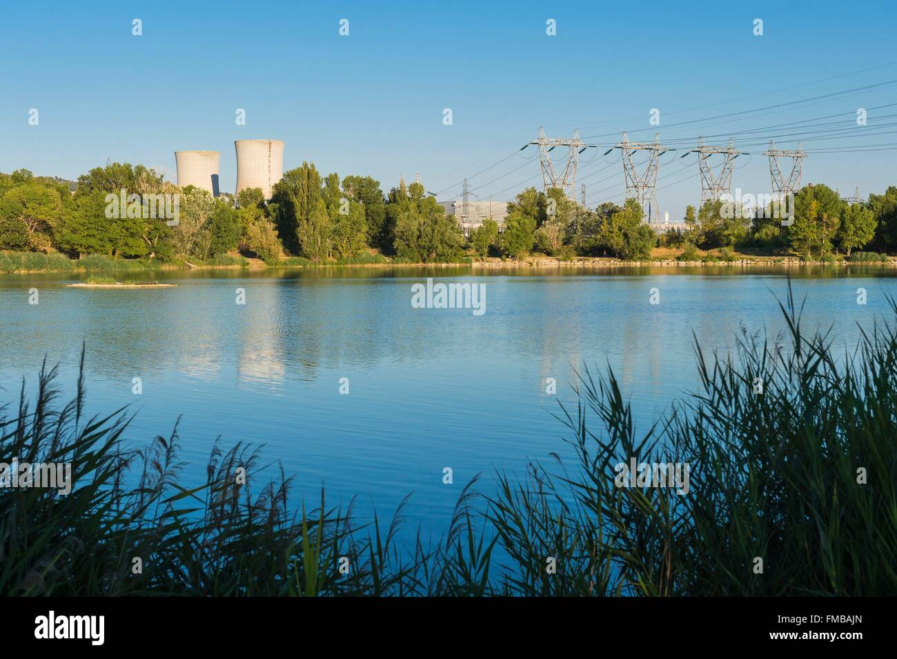 France, Drome, Pierrelatte, Tricastin Nuclear Power Plant - Stock Image