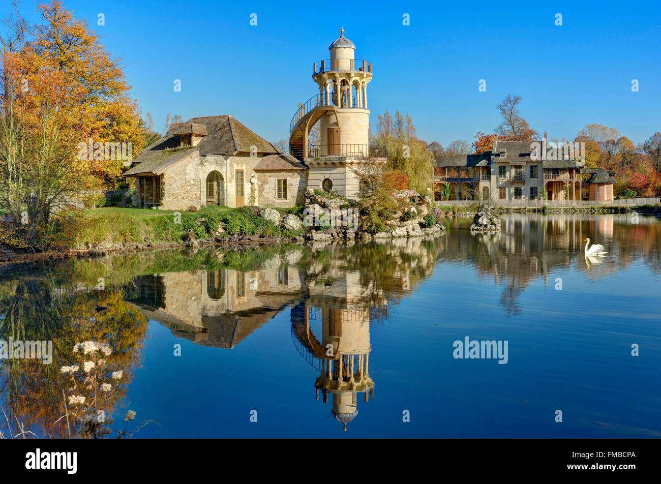 France, Yvelines, Versailles, palace of Versailles listed as World Heritage by UNESCO, Marie Antoinett's estate, - Stock Image