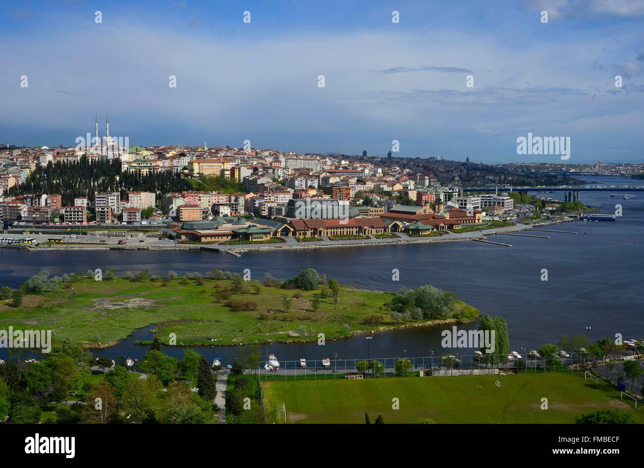 Turkey, Istanbul, view on the Golden horn, from the cafe Pierre Loti - Stock Image
