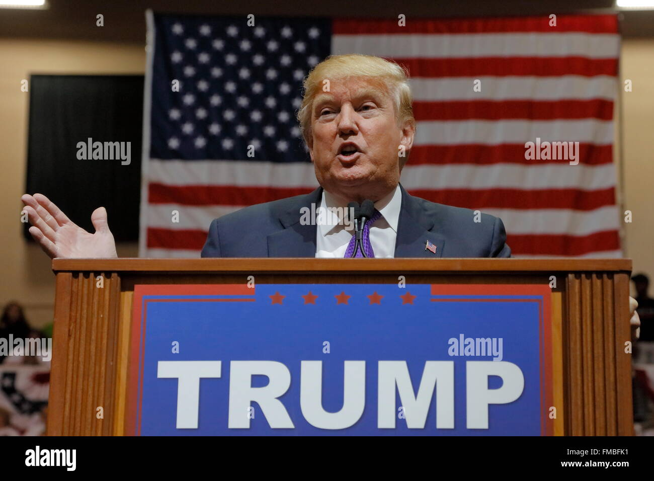 Republican presidential candidate Donald Trump campaign rally at the South Point Arena & Casino in Las Vegas - Stock Image