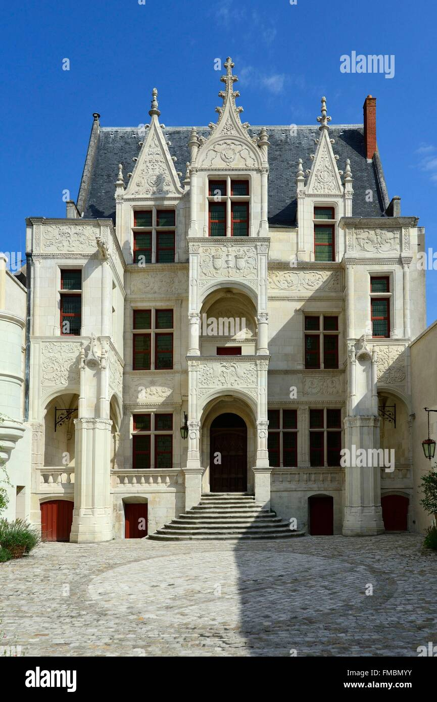 France, Indre et Loire, Tours, Gouin castle - Stock Image