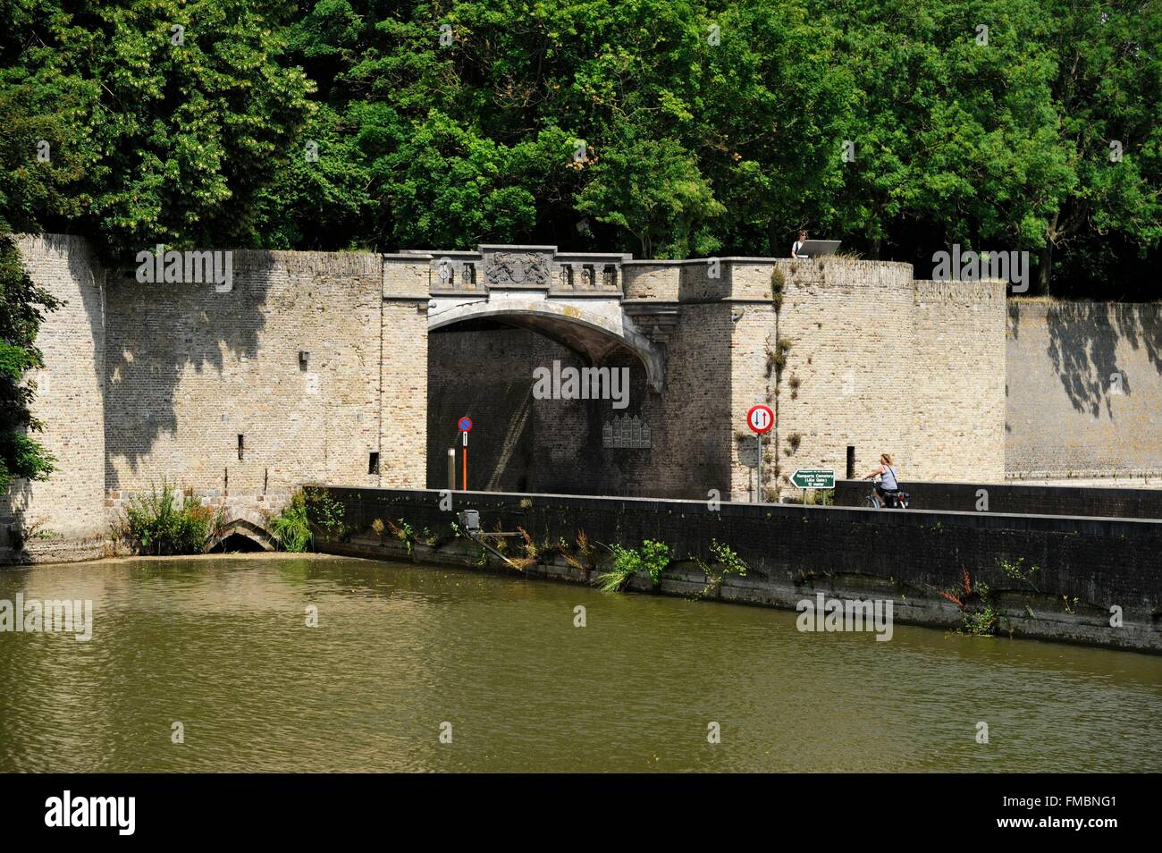 Belgium, West Flanders, Ypres or Ieper, Lille Gate - Stock Image