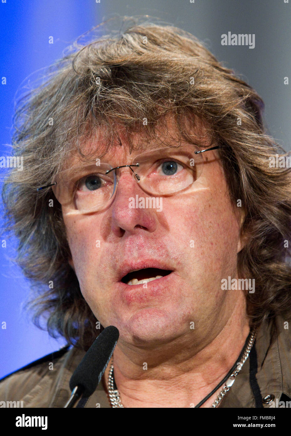 English keyboard player Keith Emerson receives the Frankfurt Music Prize 2010 in Frankfurt Main, Germany, 23 March Stock Photo