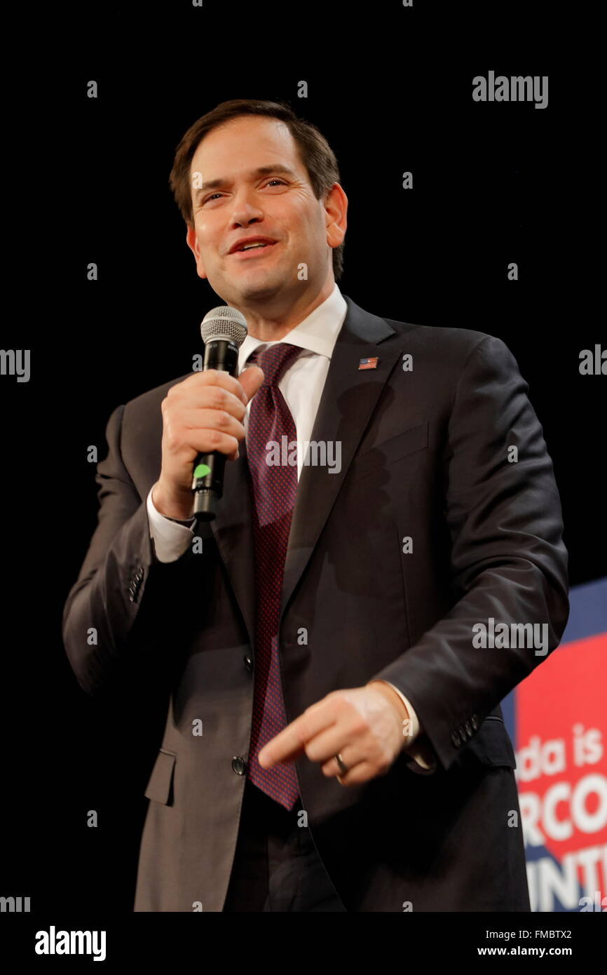 Marco Rubio Holds Campaign Rally at Texas Station, Dallas Ballroom ...