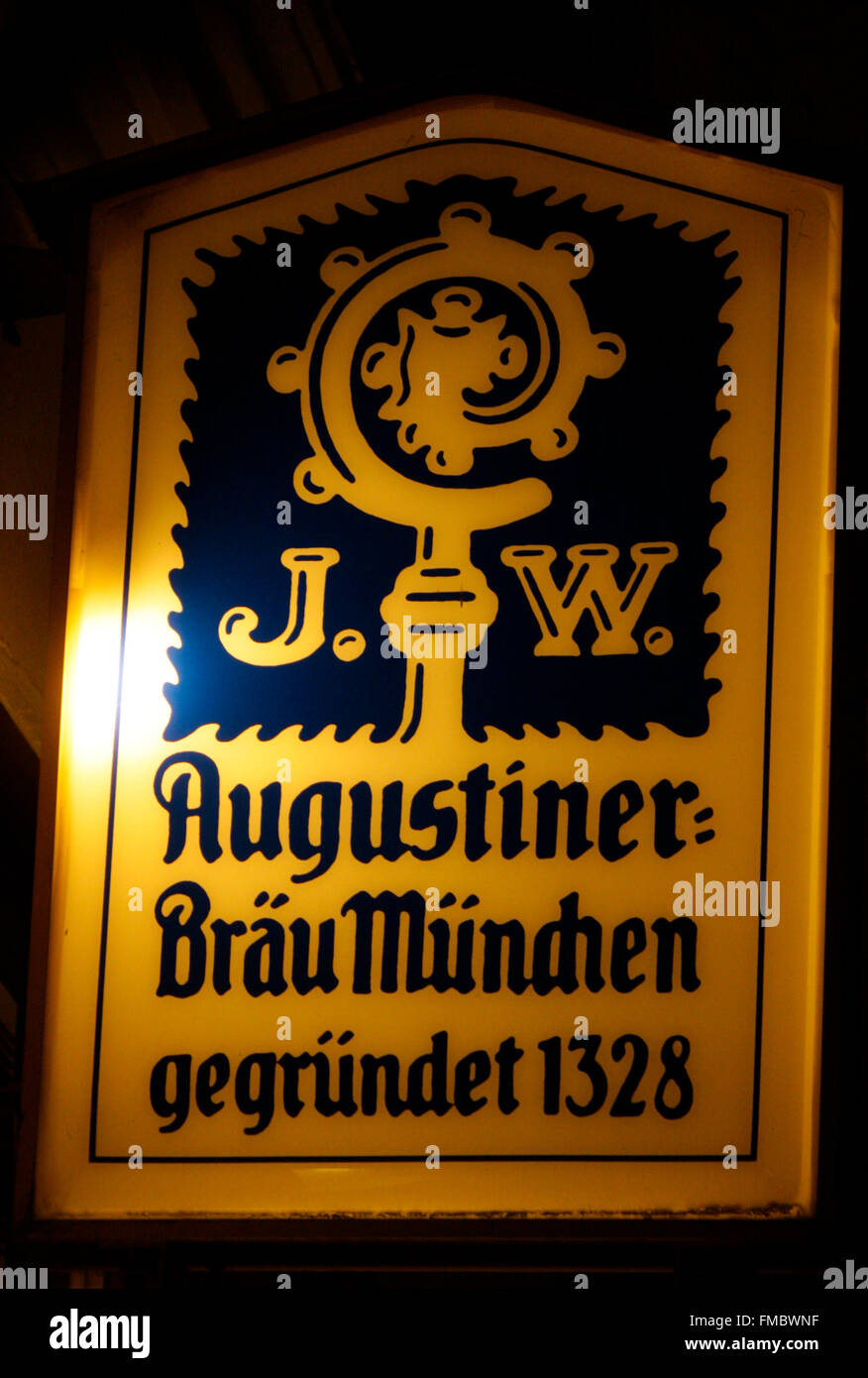 Markenname: 'Augustiner Braeu Muenchen', Berlin. - Stock Image