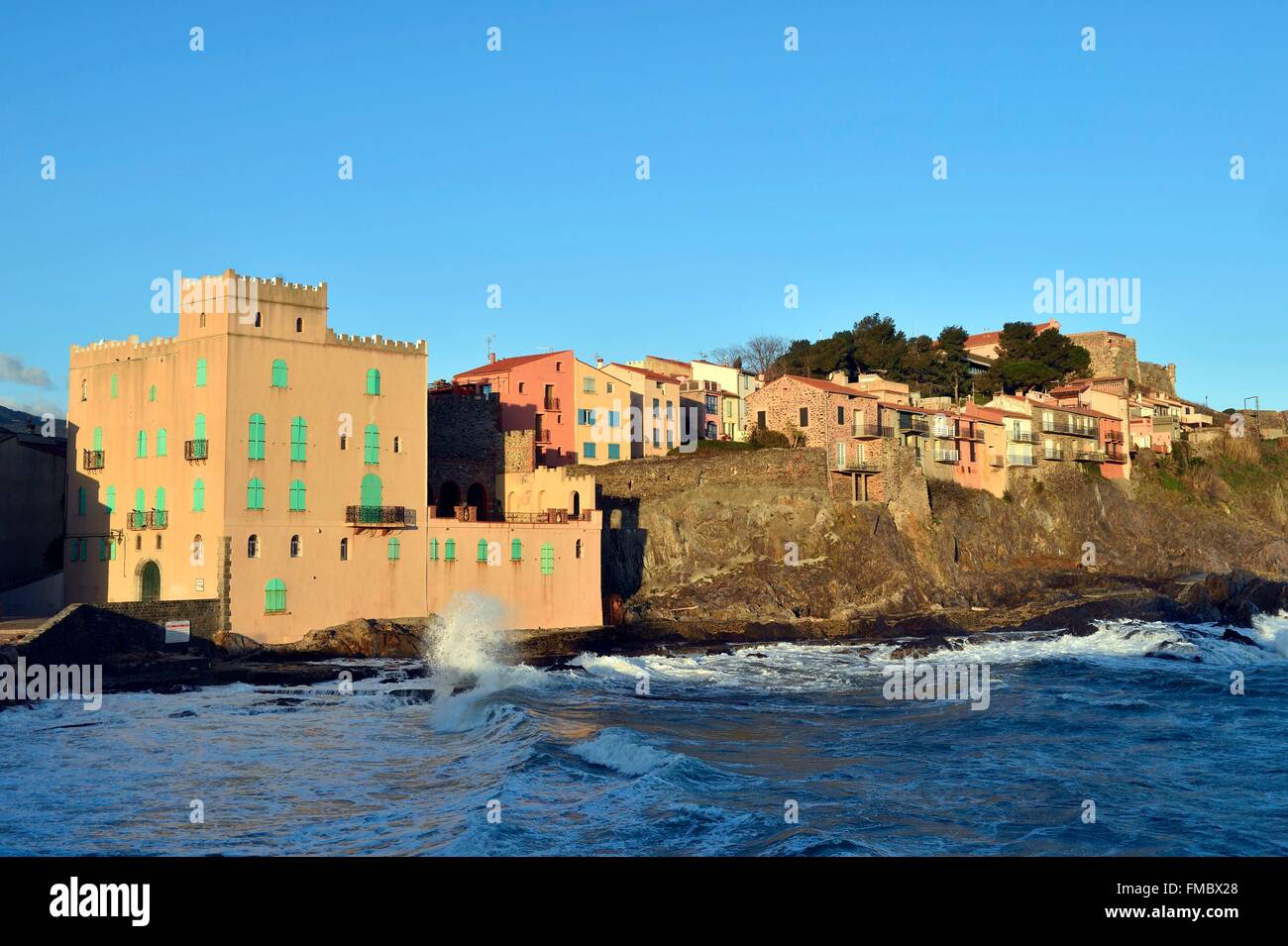 France, Pyrenees Orientales, Collioure, Moure district - Stock Image