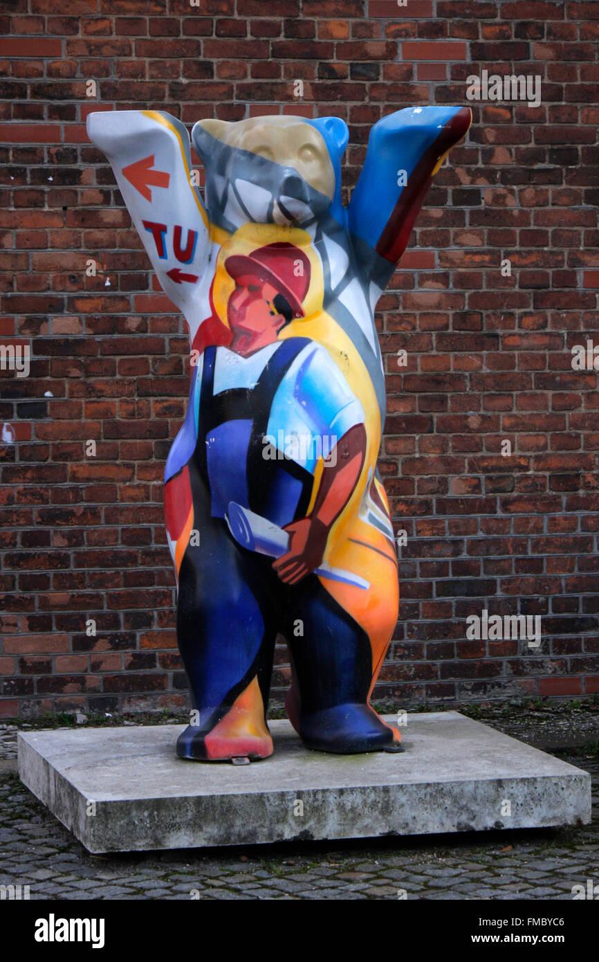 eijn Buddy bear, Berlin. - Stock Image