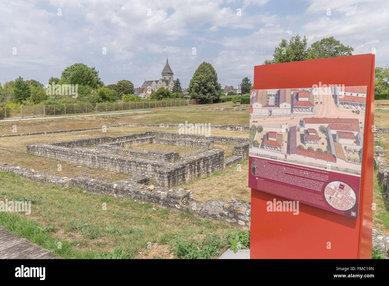 France, Indre, Saint Marcel, Argentomagus, museum - Stock Image