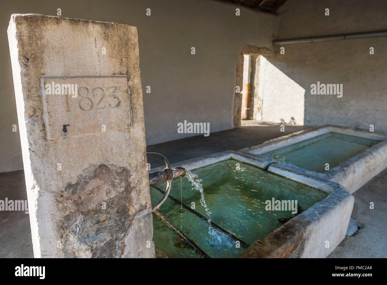 France, Ain, Pays de Gex, Segny, wash house - Stock Image