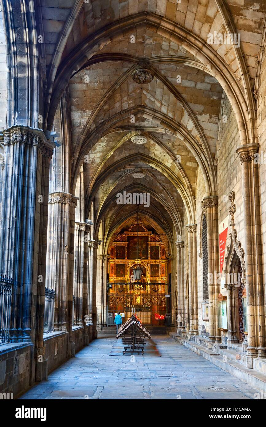 Spain, Catalonia, Barcelona, Barcelona's Cathedral - Stock Image