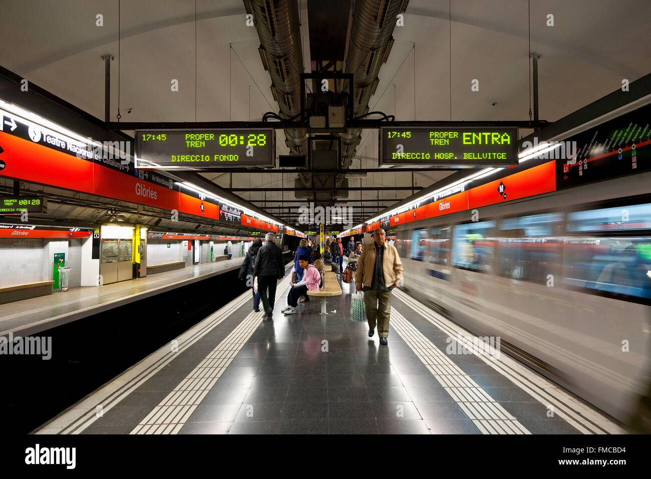 Spain, Catalonia, Barcelona, subway - Stock Image