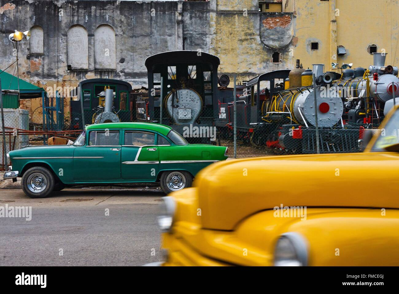Cuba, Havana, listed as World Heritage by UNESCO,Cars traveling in ...