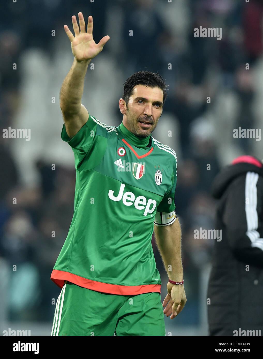 Turin Italy 11th Mar 2016 Goalie Gianluigi Buffon Of Juventus Stock Photo Alamy