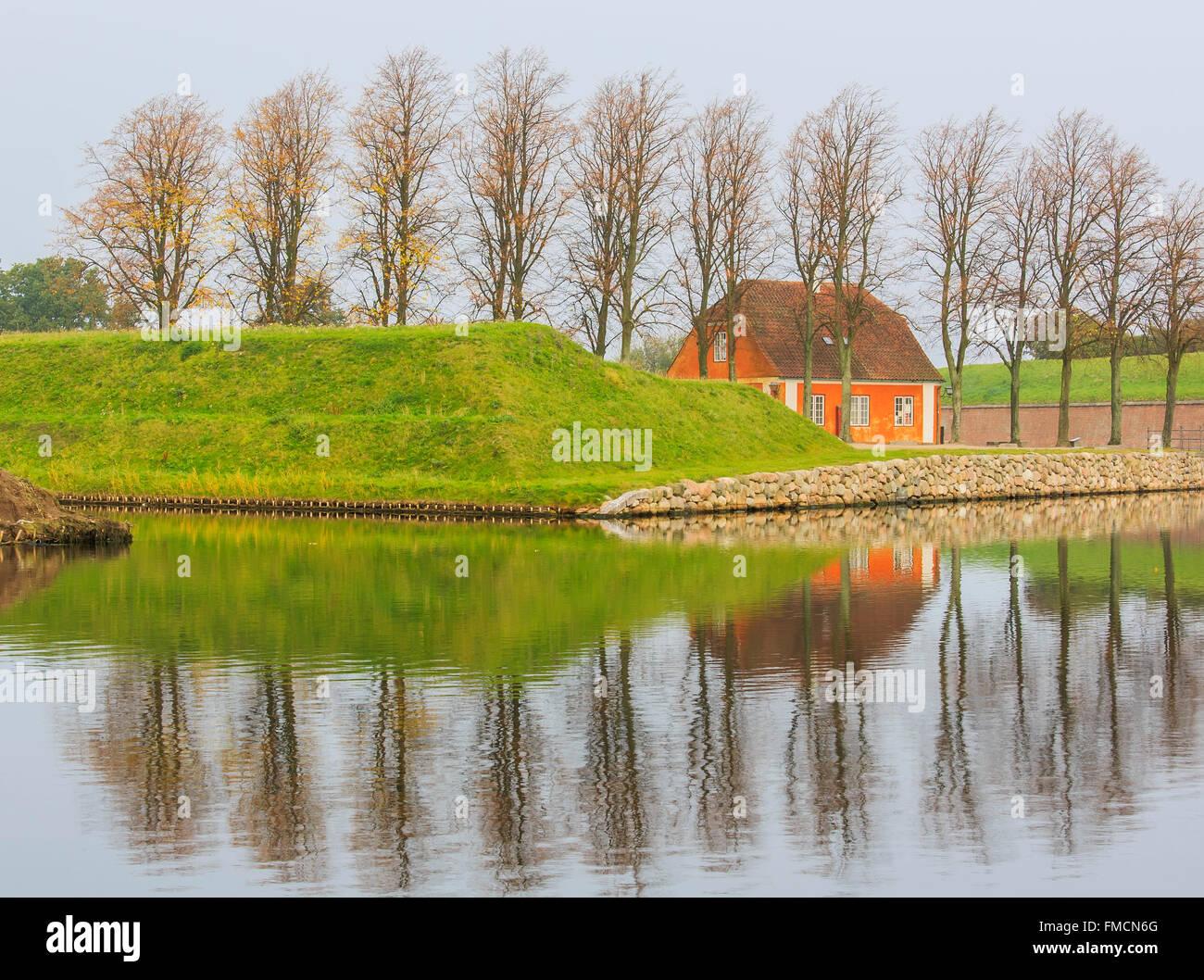 Traveling in the famous Copenhagen around Autumn season Stock Photo