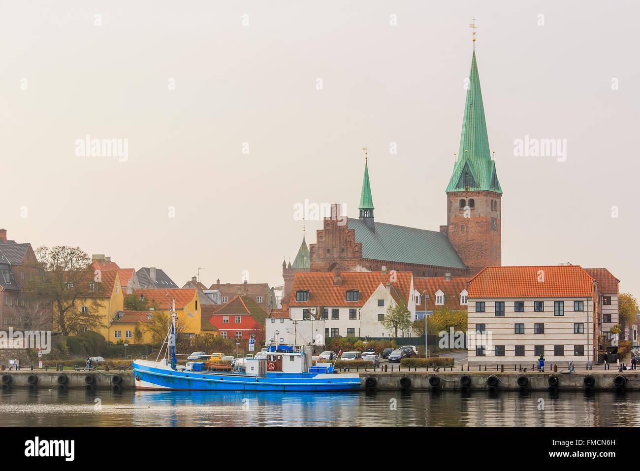 Traveling in the famous Helsingør Domkirke, Copenhagen around Autumn season - Stock Image