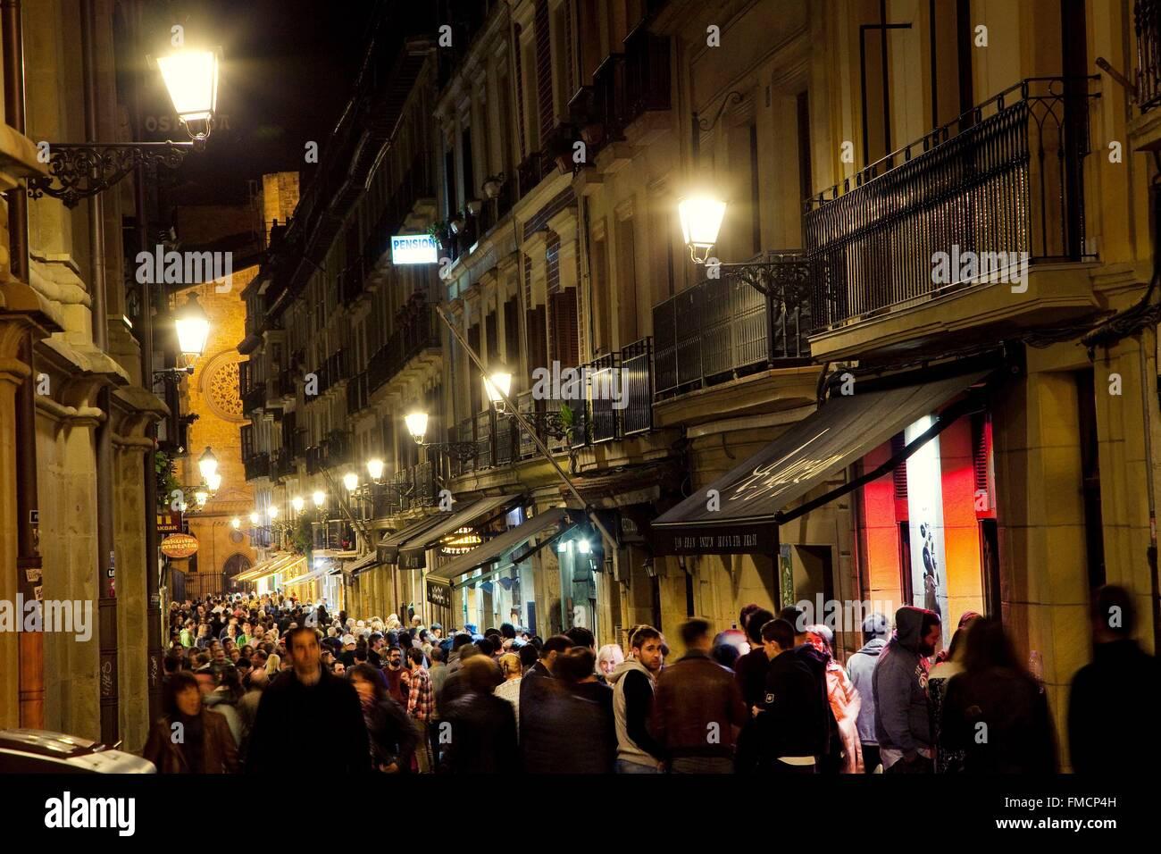 Spain, Basque Country, Guipuzcoa province (Guipuzkoa), San Sebastian (Donostia), European capital of culture 2016 - Stock Image