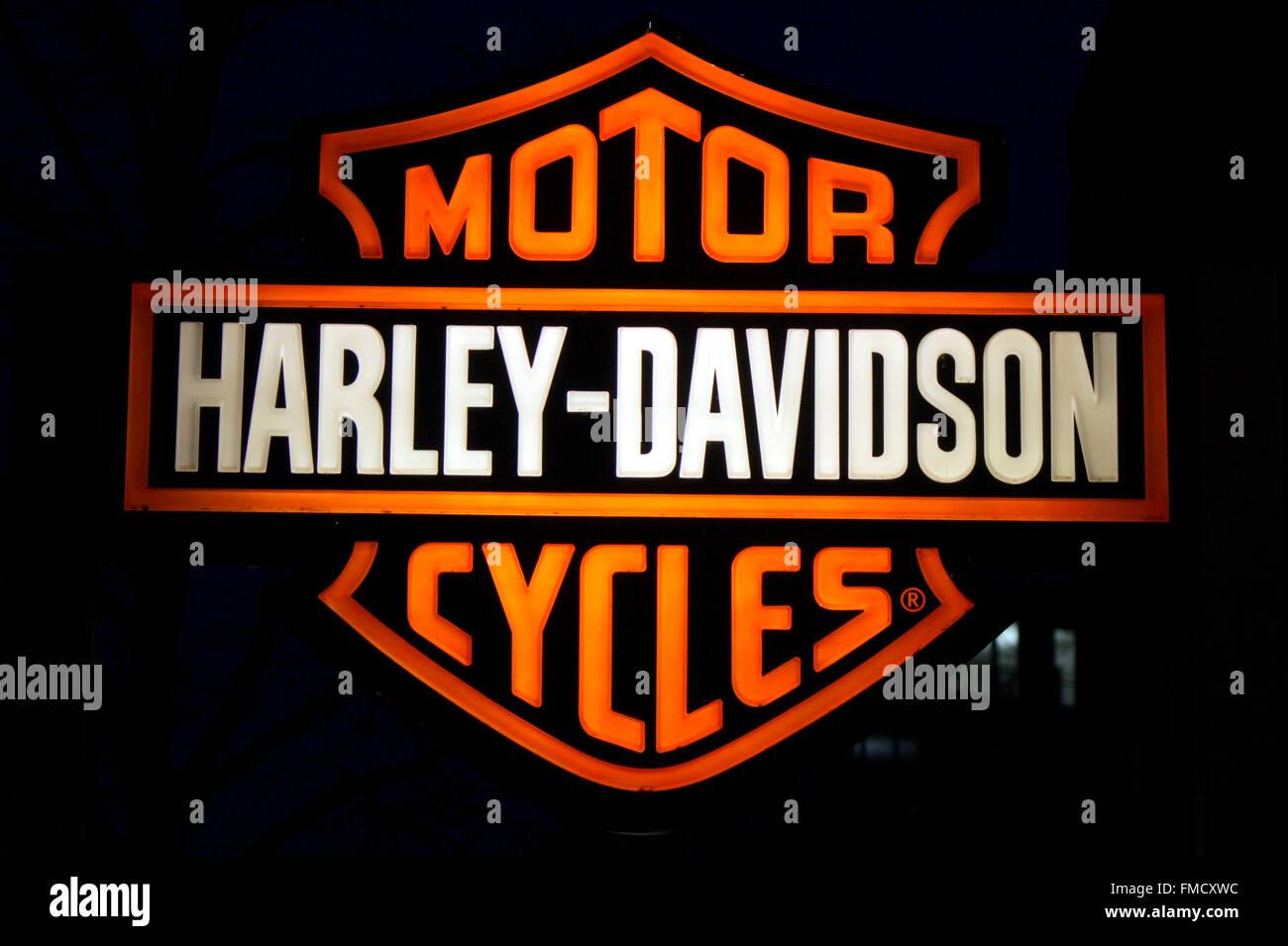 Markenname: 'Harley Davidson', Berlin. - Stock Image