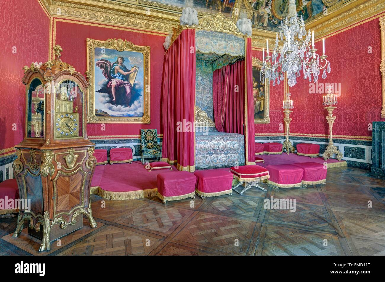 France, Yvelines, palace of Versailles listed as World Heritage by UNESCO, Mercury room was one of the king's - Stock Image