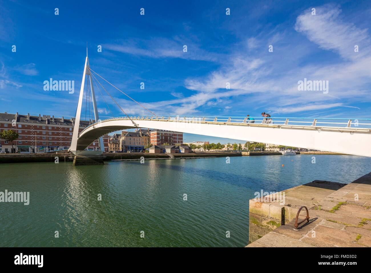 France, Seine Maritime, Le Havre, city rebuilt by Auguste Perret listed as World Heritage by UNESCO, the gateway - Stock Image