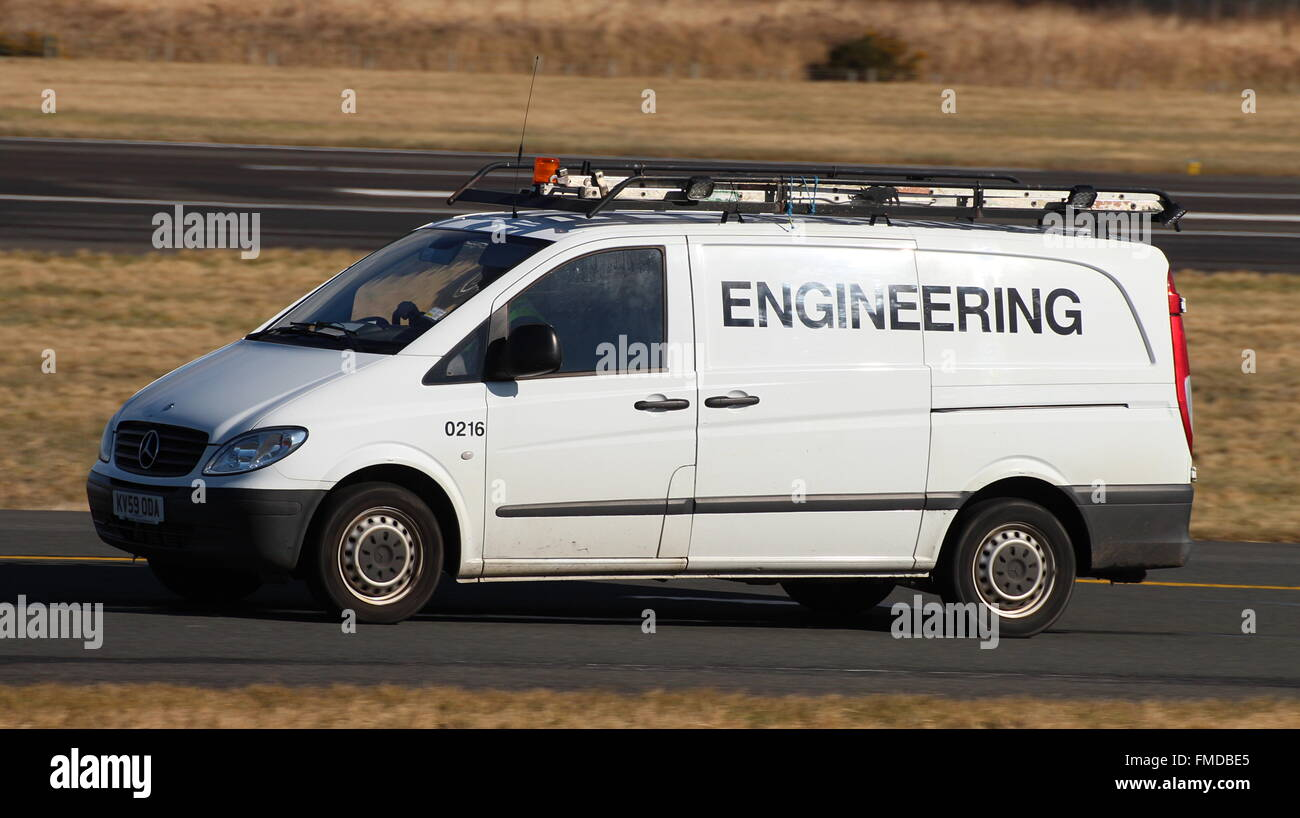 0216 A Mercedes Benz Vito Van Of The Prestwick Airport Engineering Department
