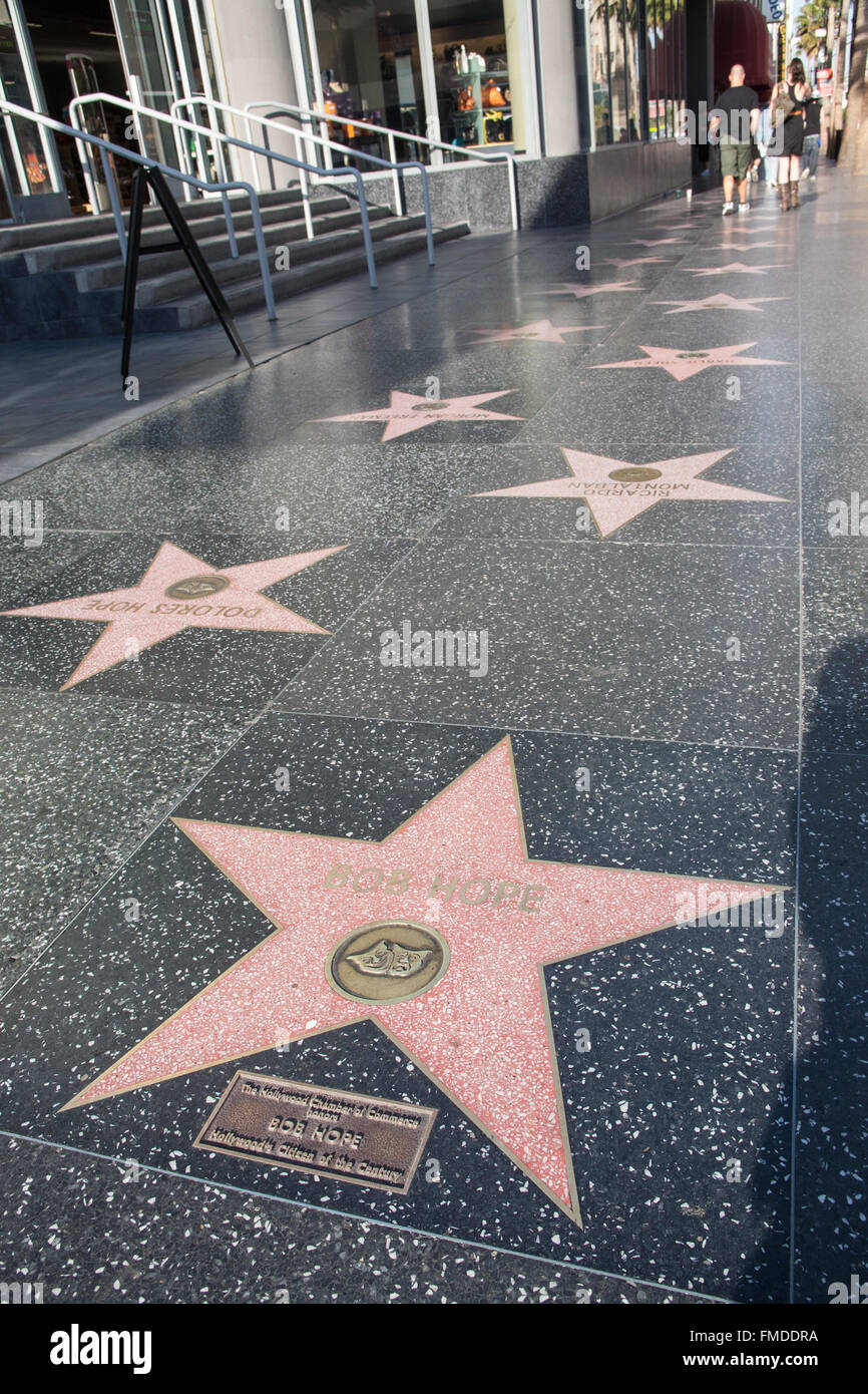 bob hope star on walk of fame hollywood boulevard los angeles stock photo 98641182 alamy. Black Bedroom Furniture Sets. Home Design Ideas
