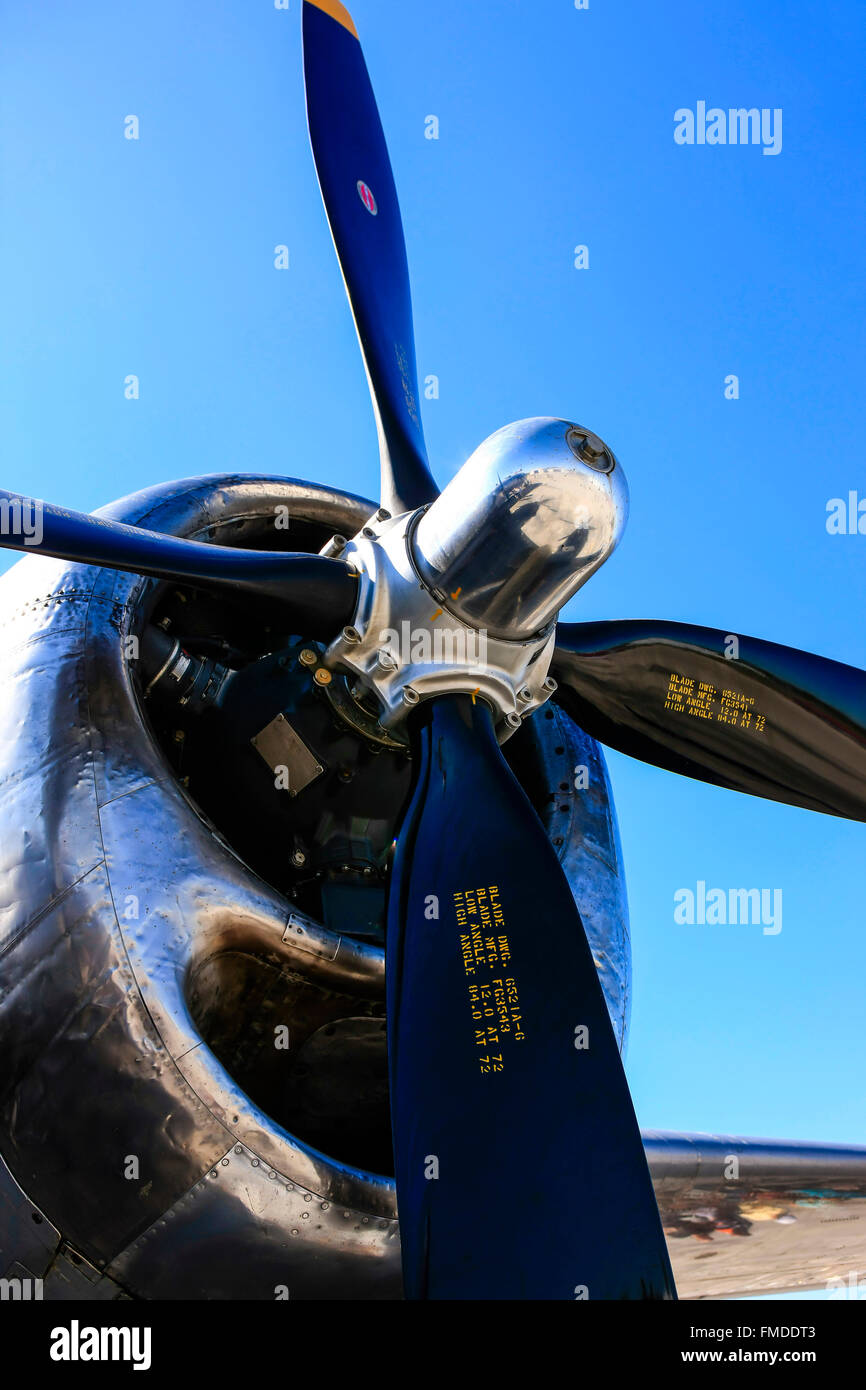 Boeing B29 Superfortress Wright R-3350 Duplex Cyclone radial engines - Stock Image