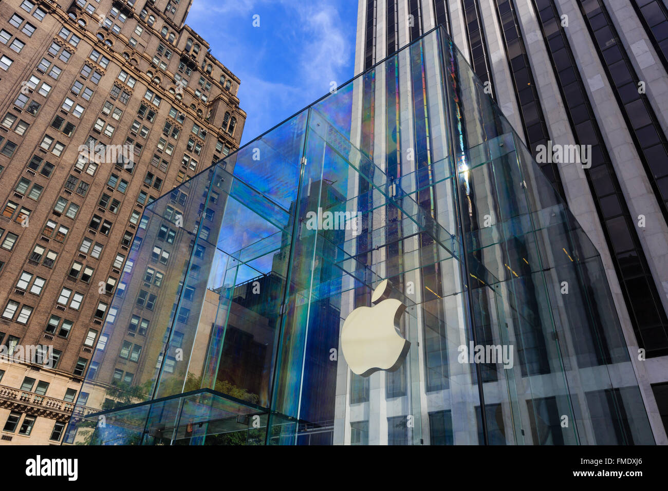 NEW YORK CITY, SEP 16: The famous Apply Store on SEP 15, 2014 at New York City. - Stock Image