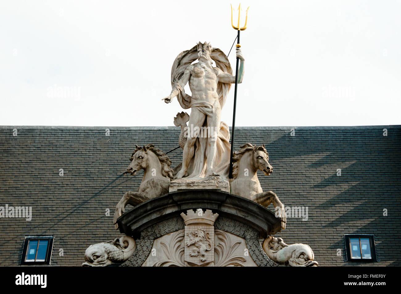 Poseidon Statue - Stock Image