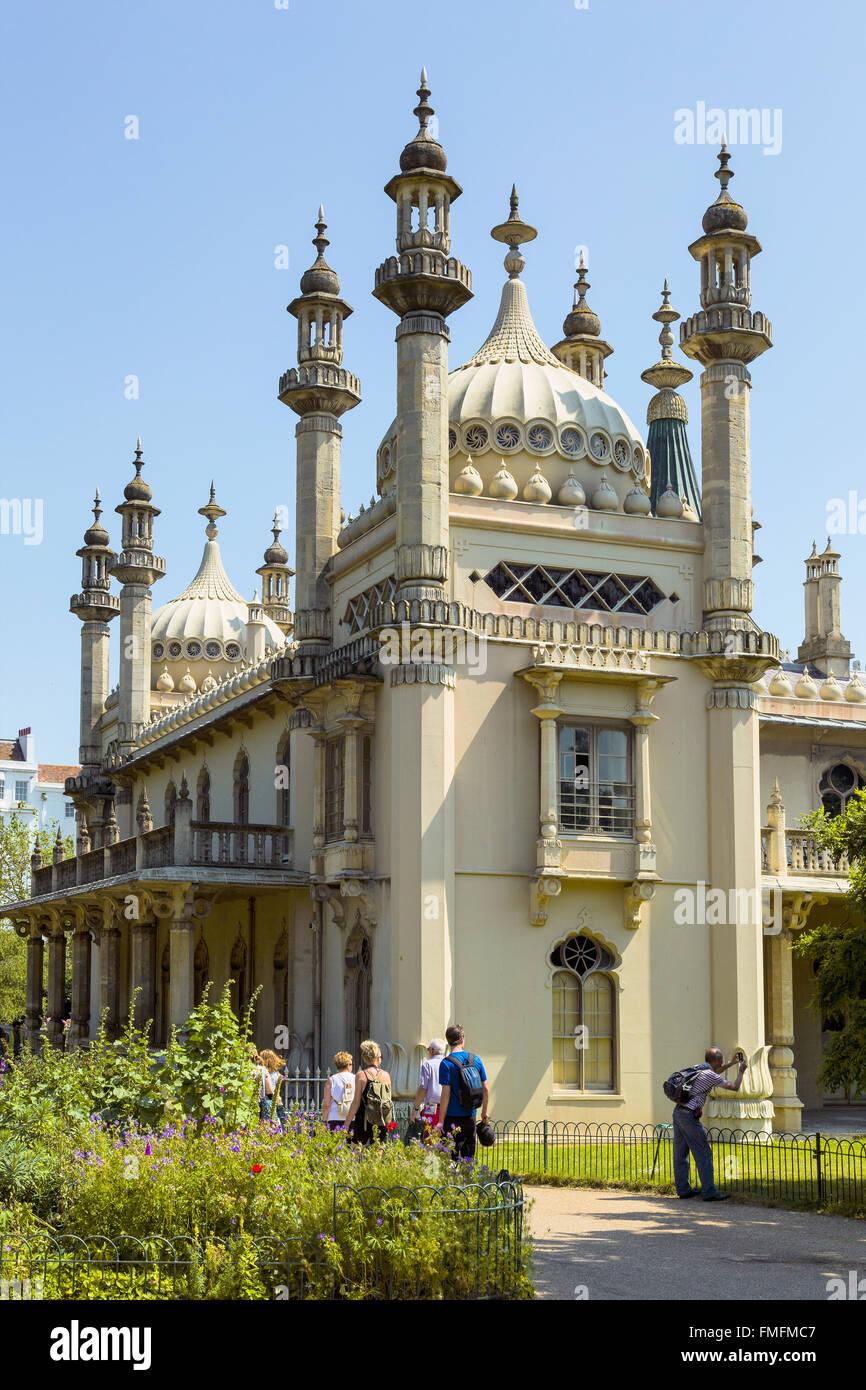 Brighton and Hove regency / Edwardian / Victorian architecture, illustrating it's past. royal pavilion UK Stock Photo