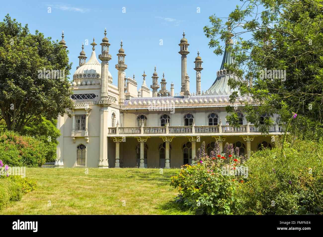 Brighton and Hove regency / Edwardian / Victorian architecture, illustrating it's past. Royal pavilion UK - Stock Image