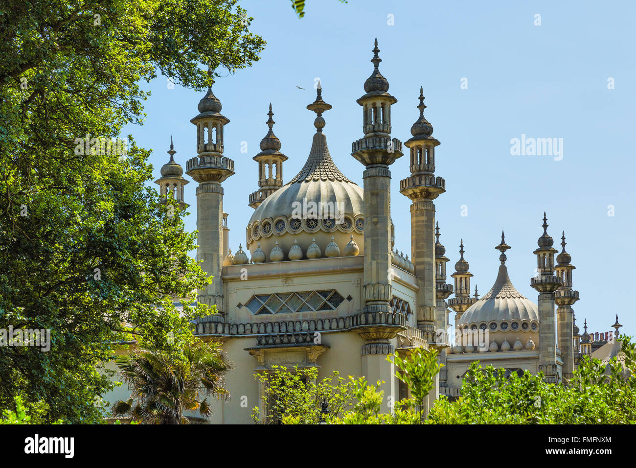 Brighton and Hove regency / Edwardian / Victorian architecture, illustrating it's past. Royal Pavilion UK Stock Photo
